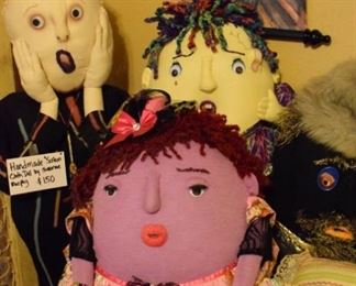 """Handmade cloth dolls by Suzanne """"Eden"""" Murphy."""