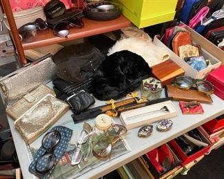 Handbags, Eyeglasses, Sun Glasses, Trinket Boxes,  Wallets, Etc.