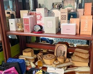 Perfume, Toiletries, Vintage Vanity Set