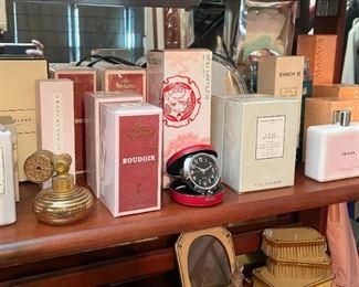 Perfume, Travel Clock, Vanity & Bath Items