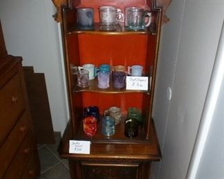 Cute hutch and carnival glass (Boyd and Imperial)
