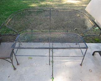 Vintage patio bench