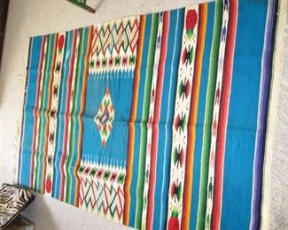 Large Mexican blanket with pineapple motif - Gorgeous!