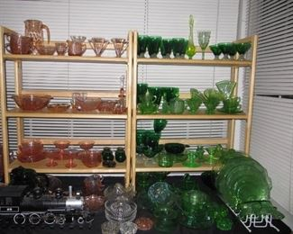 Depression glass, Tiffin, Fostoria, MOre!