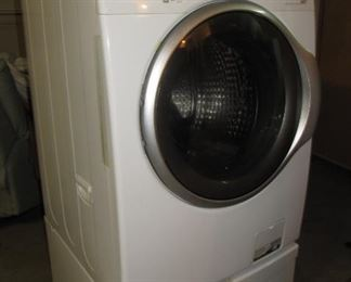 Available NOW! $350 Samsung Washing Machine with storage pedestal - tested.