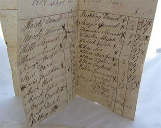 1800s tax ledger