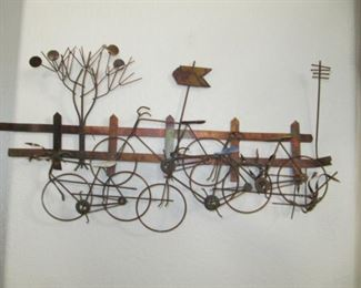Cool metal wire bicycle sculpture