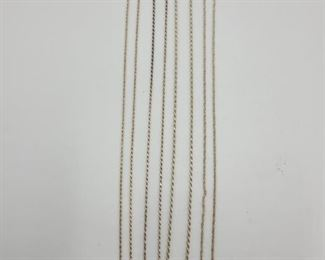 4 Sterling Silver Chains