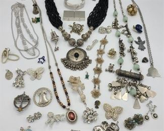 Silver Tone Costume Jewelry I