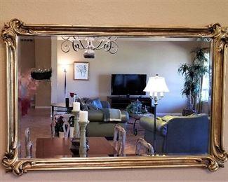 Beautiful gold framed mirror