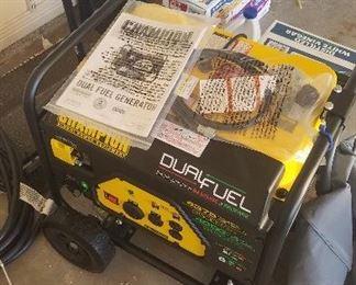 New generator runs on gas or propane