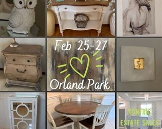 👉🏻👉🏻 DATES CHANGED DUE TO THE COLD AND THE SNOW! New dates: Feb 25-27th. 3 Day Orland Park Estate Sale!!!
