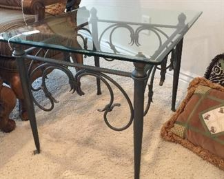 Glass/Wrought Iron Coffee Tables