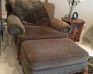 Schnadig Chair & Ottoman