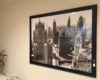 View to Grand Av. Chicago 1940 Z gallerie Framed poster art
