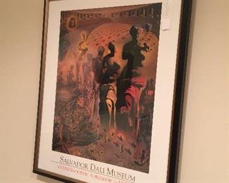 """Framed Salvador Dali museum promo art, 30 & 1/2"""" x 24&& 1/2"""""""