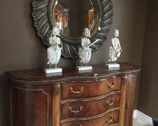 "Schnadig Buffet - 65.5"" x 42"".  Mirror sold  separately.  Statues not for sale."
