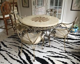Michael Tanner Table & Chairs.  Rug not for sale.
