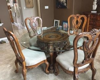 Schnadig Dining Table & Chairs