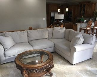 Crate & Barrel Down filled Sectional - only 2 years old!
