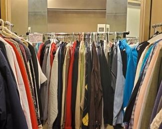 So many nice pieces of clothing - men and womens