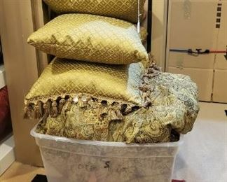 Several comforter sets