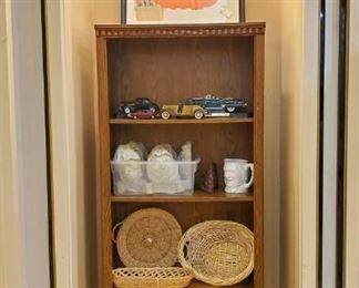 Baskets, car collection, etc.