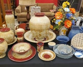 SO MUCH pottery!  Whatever size or shape you need, we have!  I personally love the high glaze pieces!