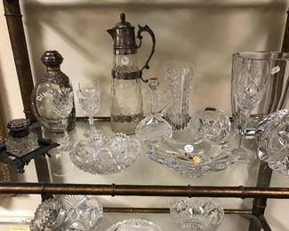 Large lot cut glass
