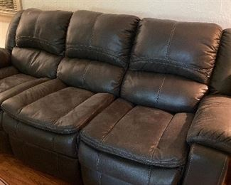 2 year old reclining sofa