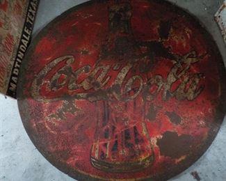 Rare Mexican Coca Cola sign.