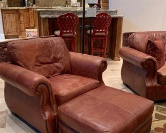 Viewpoint Leatherworks Sofa, Loveseat, Chair and Ottoman