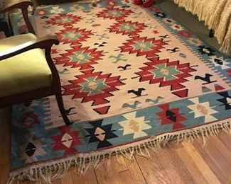 Wool rugs (2 sizes). Great condition!