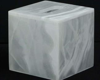 White Marble Tissue Box Cover