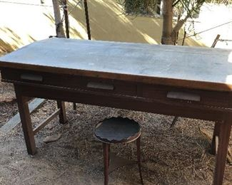 Massive desk - drafting table industrial