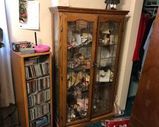 curio cabinet. CD stand
