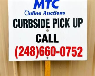 NEW CURBSIDE SIGN