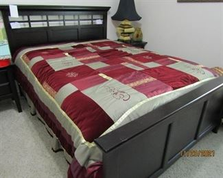 THIS IS A QUEENSIZE BED WITH MATTRESS/BOX SPRING AND HEADBOARD AND FOOT BOARD IF  NEEDED.. WILL SELL SEPARATELY