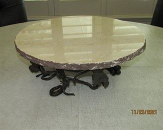 MAKE IN ITALY AND VERY HEAVY MARBLE AND IRON STAND.. BEAUTIFUL
