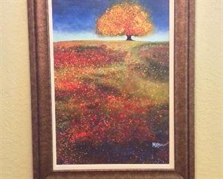 """Fall Colors, 33"""" x 45""""."""