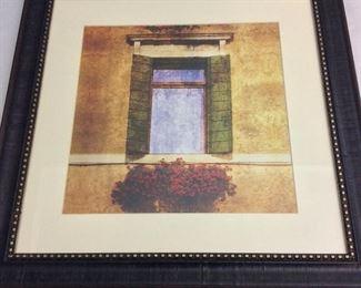 "Window and Flower Box, 19"" x 19""."