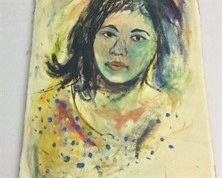 "Portrait Unframed, 16"" x 21 1/2""."