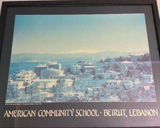 "American Community School Beirut Lebanon, 21"" x 17""."