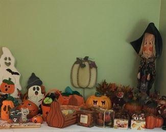 Assorted Halloween decorations