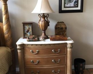 Two bachelor chests with stone top by Berndhart