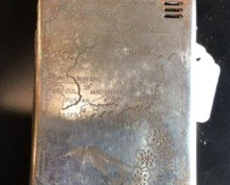 Vintage Chrome Fuz lighter cigarette case Japan, Korea