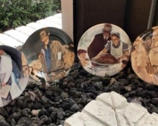 Collectible plates by Norman Rockwell