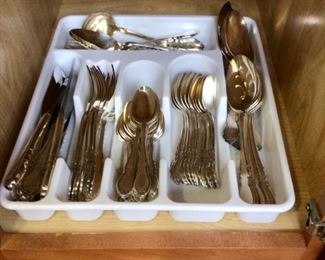 Rogers silver plate flatware for 12