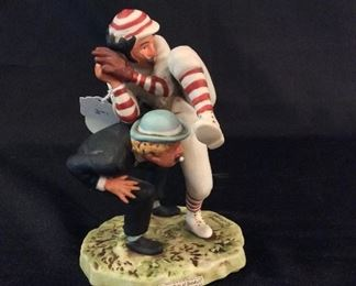 Norman Rockwell Porcelain Figurine 100th Year of Baseball 1974 NR-16.
