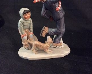 Norman Rockwell Porcelain Figurine Gay Blades.